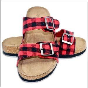 👠NIB Plaid Sandals